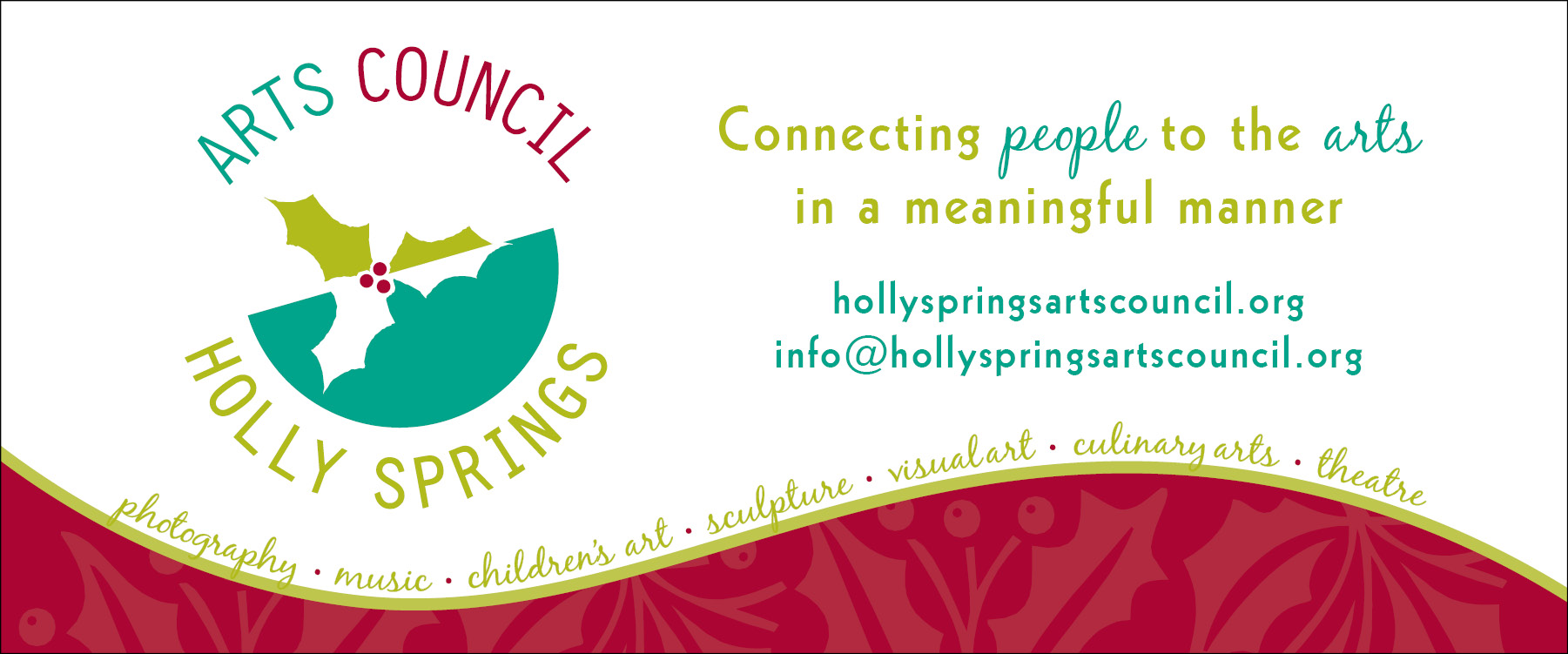 banner for holly springs arts council the official