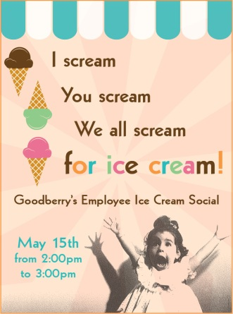 Flier for ice cream social