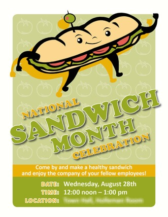 National Sandwich Month flier