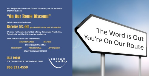 On Our Route promo flier front