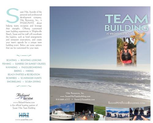 Susan Hite Teambuilding brochure front side