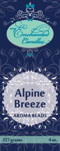 MEC Aroma Beads promo label-Alpine Breeze