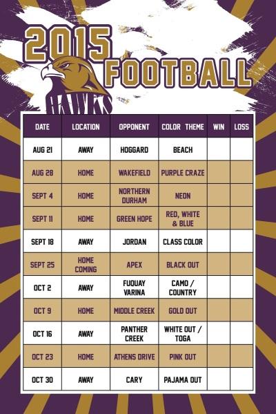 Football Schedule poster