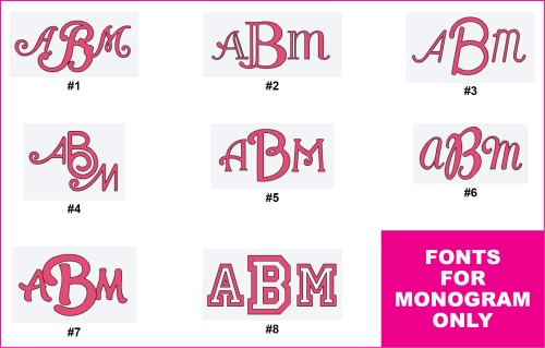 Fonts for monogram only